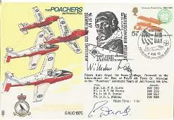 WW2 Luftwaffe ace Wilhelm Batz KC signed Poachers Air