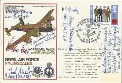 WW2 Luftwaffe aces multiple signed RAF Fylingdales