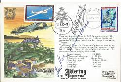 WW2 Battle of Britain aces signed rare Adlertag cover