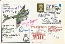 WW2 Luftwaffe aces signed scarce RAF Leeming Mosquito