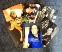 Snooker and Darts collection 6 signed photos from some