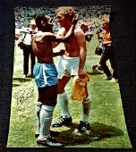 Football Pele signed 33x15 colour photo picturing the