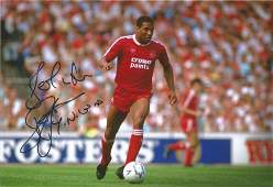 Football John Barnes signed 12x8 colour photo pictured