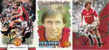MAN, UNITED 1990s: Autographed modern trade cards by