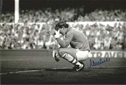 Neville Southall signed 12x8 black and white photo.