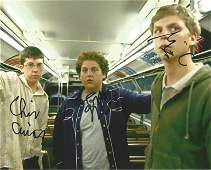 Superbad multi signed 10x8 colour photo signed by cast