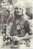 Rod Stewart signed 6x4 black and white promo photo.