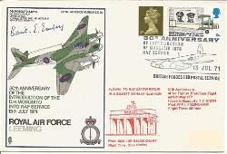 Basil E Embry signed RAF Leeming 30th Anniversary of