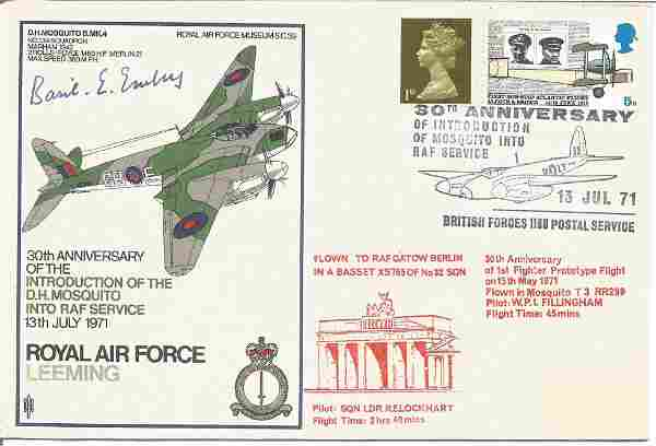 Basil E. Embry signed RAF Leeming 30th Anniversary of