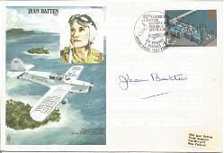 Jean Batten CBE signed own Jean Batten FDC No. 351 of