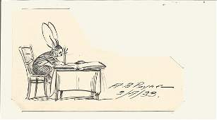 A B Payne signature with rabbit doodle. Good Condition.