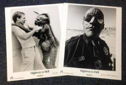 Highway to Hell two black and white lobby cards from