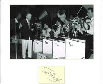 Ted Heath 14x14 signature piece includes bw photo and