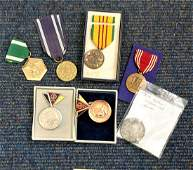 Military medal collection 7 interesting items includes