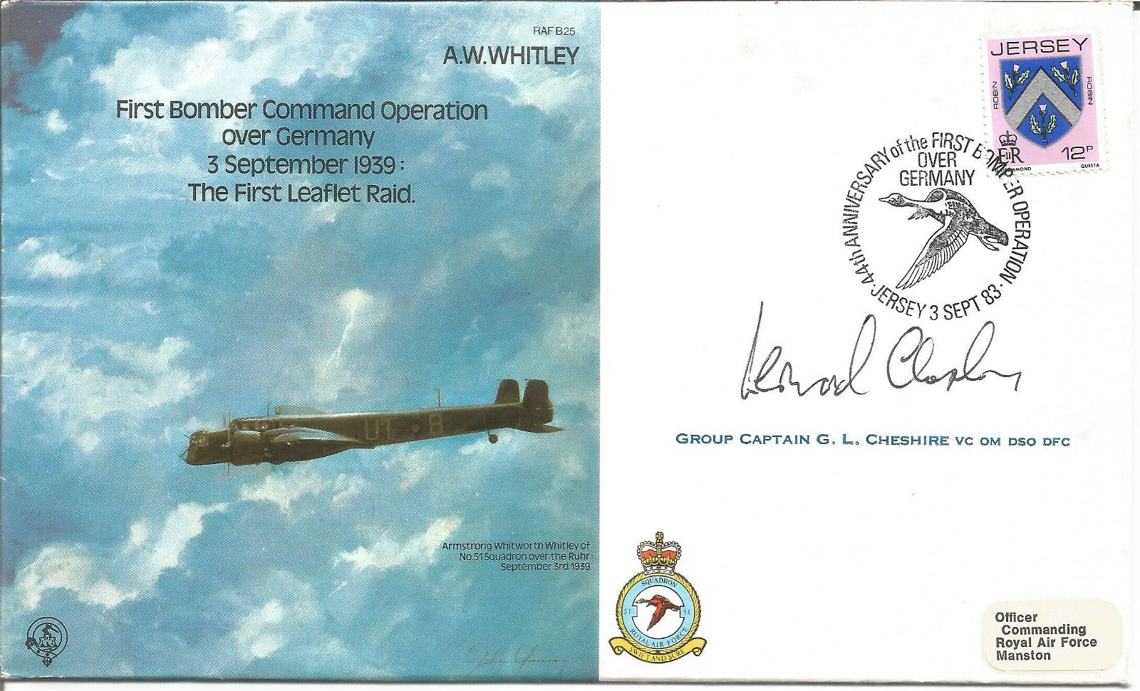 WW2 RAF 617 The Dam Busters Squadron, Leonard Cheshire