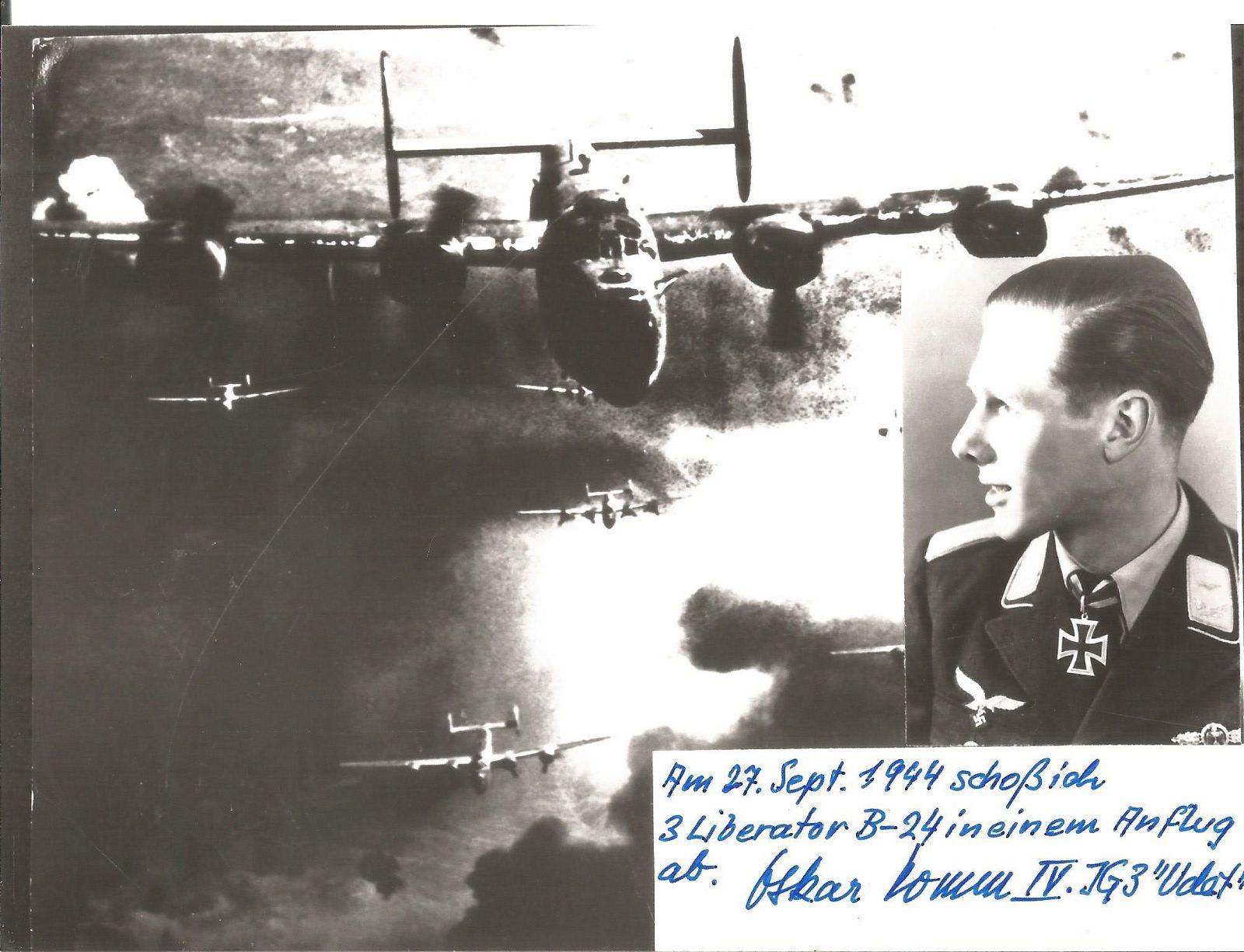 WW2 Luftwaffe Ace Oskar Ossi Romm KC, 283 combat