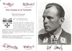 WW2 Luftwaffe Ace Major Karl Rammelt KC, 450 combat