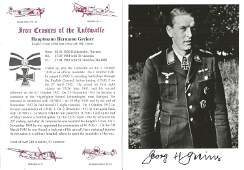 WW2 Luftwaffe Night Fighter Ace Hauptman Hermann