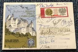 Colditz Castle WW2 rare multiple signed cover. Escape