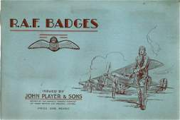 RAF badges cigarette card collection from John player