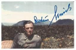 Rochus Misch signed 6x4 colour photo. All autographs