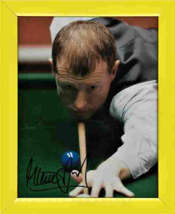 Snooker Steve Davis signed 10x8 colour photo. Framed.