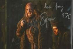 Stephen Fry signed 12x8 The Hobbit colour photo.