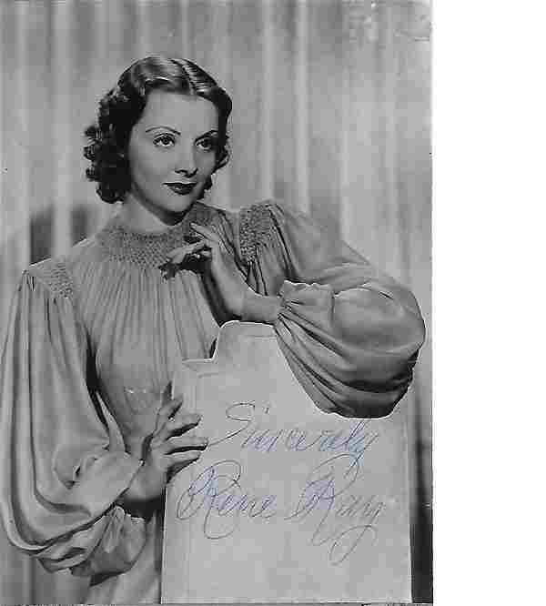 Rene Ray Signed 6 x 4 inch b/w photo. Condition 7/10.