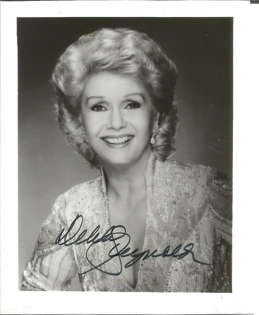 Debbie Reynolds Signed 6 x 4 inch b/w photo. Condition