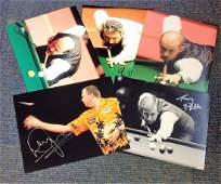 SnookerDarts collection 5 signed photos from household