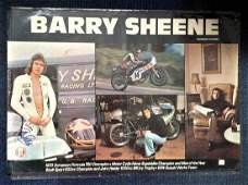Barry Sheene signed 34 x 23 inch motor cycle poster to
