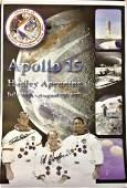 Apollo Astronauts Dave Scott and Al Worden signed 16 x