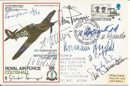 WW2 Luftwaffe aces multiple signed cover Paul Richey