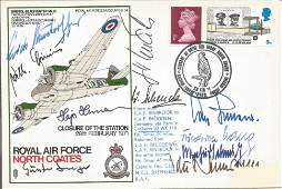 WW2 Luftwaffe aces multiple signed cover Ten inc