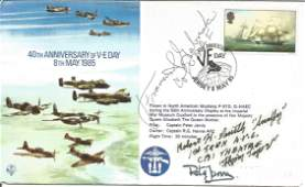 WW2 US Fighter aces multiple signed cover Col Francis