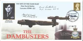 WW2 Dambuster raid veterans multiple signed 2009