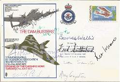 WW2 Dambusters multiple signed Lancaster Vulcan bomber