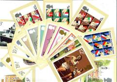 Postal collection glory folder includes bag of stamps