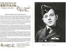 WW2 RAF Flt Lt Denis Norman Robinson Battle of