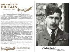 WW2 RAF Wg Cdr Kenneth William Mackenzie Battle of