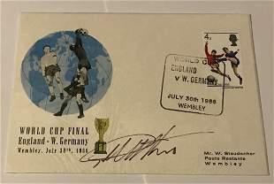 Geoff Hurst 1966 World cup football legend signed 1966