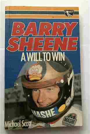 Barry Sheene Motor Racing champ signed soft back book A