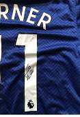 Timo Werner signed Blue Chelsea Football Shirt Good