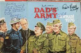 Dads Army multiple signed 1976 annual Inside page has