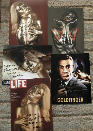 James Bond Goldfinger Collection. Five 10 x 8 inch