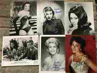 TV/Film collection. Six signed 10 x 8 inch photos