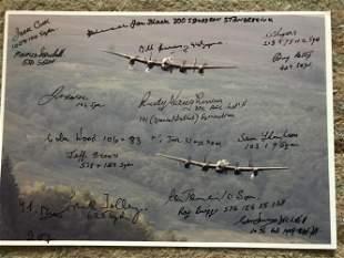 WW2 18 Bomber Command veterans multiple signed