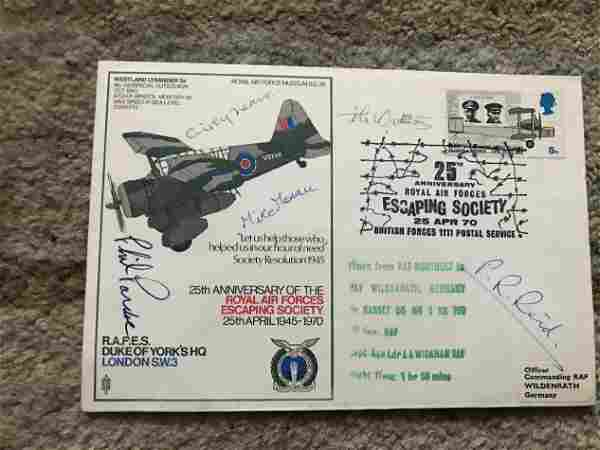 WW2 Colditz Castle POWs multiple signed RAF Duke of