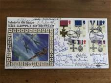 WW2 Battle of Britain multiples signed 1990 Gallantry
