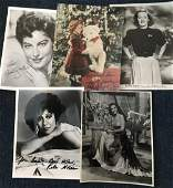 Vintage Film collection. Ten signed 10 x 8 inch b/w
